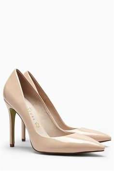 Buy Nude Signature Velvet Pointed Court Shoes from the Next UK online shop