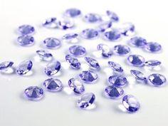 100 Diamanten lila - flieder 12mm Tischdekoration Streuartikel Hochzeit Taufe: Amazon.de: Küche & Haushalt