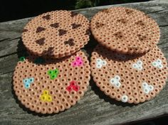 Cookie Coasters perler beads by CherishedGiftables