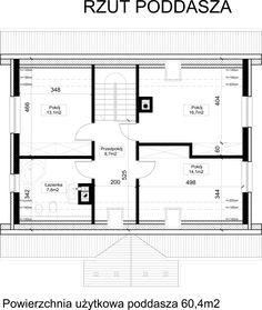 Poddasze House Plans, Floor Plans, How To Plan, House, House Floor Plans, Floor Plan Drawing, Home Plans