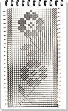Crochet Shawl Diagram, Crochet Chart, Thread Crochet, Filet Crochet, Crochet Stitches, Cross Stitch Pattern Maker, Cross Stitch Borders, Cross Stitch Flowers, Cross Stitching