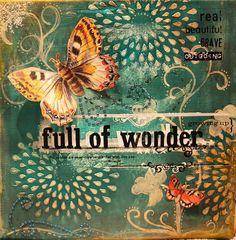 Full of Wonder, 12x12 Canvas