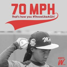 Fans have traveled thousands of miles to see Mo'ne Davis pitch in the LLWS and she's attracted admiration from some of her own heroes like Kevin Durant. Sports Day, Kids Sports, Sports Women, Throw Like A Girl, Girls Be Like, We Run The World, The Sporting Life, Sports Figures, Baseball Mom