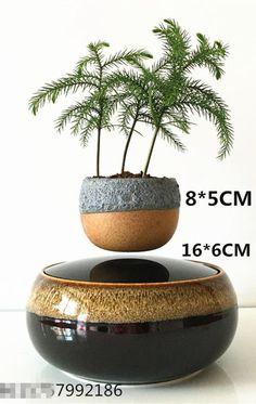 japan high-tech products magnetic levitation air bonsai (no plant)ceramic flower pot