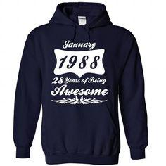 Jan-88 T Shirts, Hoodies, Sweatshirts. GET ONE ==> https://www.sunfrog.com/No-Category/January-1988-5987-NavyBlue-Hoodie.html?41382