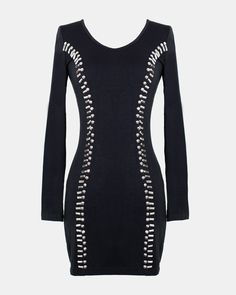$51.20 LOVE. Want this black bodycon dress <3