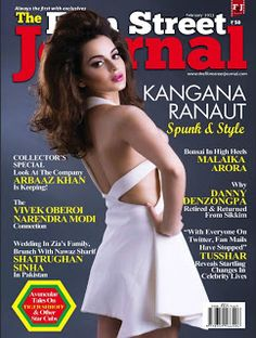 Kangana Ranaut on The Cover of The Film Street Journal – February 2013.