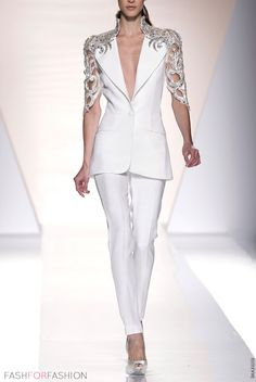 white jacket by fausto sarli - a bit of haute couture