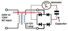 The post discusses a simple ESR meter circuit which can be used for identifying bad capacitors in an electronic circuit without removing them practically from the circuit board. Diy Electronics, Electronics Projects, 5 Min Crafts, Electronic Circuit Projects, Electronic Schematics, Smart Home Automation, Circuit Diagram, Data Sheets, High Voltage