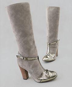Joyfolie Charcoal + Shimmer Lakin Boots