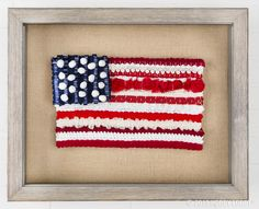 """Weave"" your flag for Labor Day with your favorite pieces of ribbon, trim, lace and fabric!"