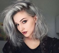Looking for dazzling short ombre hair ideas? Find a full photo gallery and know the benefits plus cautions before you& going for short ombre hair. Permanent Hair Dye, Demi Permanent, Hair Dye Colors, Pastel Hair, Pastel Grey, Purple Hair, Pastel Shades, Colour Shades, Trendy Hairstyles