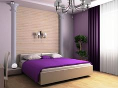 Bedroom Design Ideas Awesome Soft Purple Pinch Pleat Curtain On ...