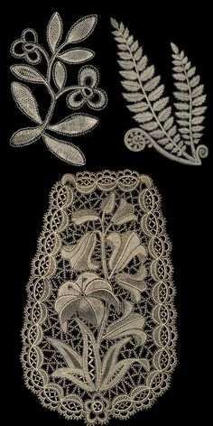 Examples of Honiton Lace from Honiton, Devon