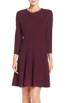 Eliza J Eliza J Sweater Knit Fit & Flare Dress available at #Nordstrom