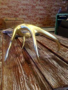 Gold Deer Antler by WestWalnut on Etsy, $27.00