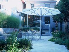 Concrete patio, ornamental walls, raised planting beds, metal deck Plants For Raised Beds, Metal Deck, Concrete Patio, Planting, Walls, Outdoor Decor, Projects, Home Decor, Log Projects