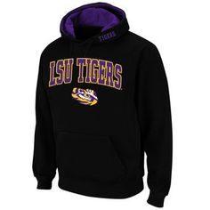 LSU Tigers Stadium Athletic Arch & Logo Pullover Hoodie - Black