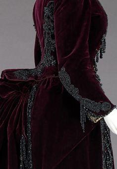Robe soie bordeaux