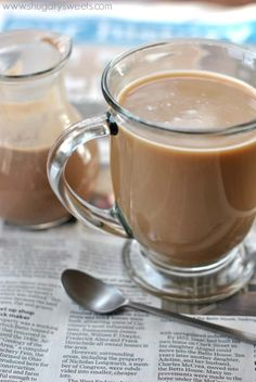 Make your own homemade Irish Cream Coffee creamer at home! A delicious, easy recipe based off my French Vanilla creamer recipe. Make your own homemade Irish Cream Coffee creamer at home! A delicious, easy recipe based off my French Vanilla creamer recipe. Baileys Coffee Creamer, Non Dairy Coffee Creamer, French Vanilla Creamer, Homemade Coffee Creamer, Irish Coffee Creamer Recipe, Irish Cream Coffee, Baileys Irish Cream, Homemade Irish Cream, Chocolate Covered Coffee Beans