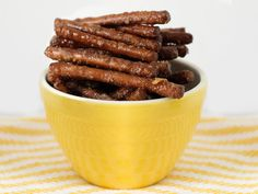 Candied Pretzel Sticks