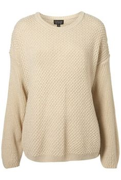 Knitted Textured Slouch Jumper - StyleSays