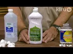 Make your own natural fungicides and insecticides with things from the kitchen and medicine cabinet