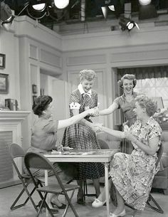 Growing up I always thought they filmed I Love Lucy in an actual apartment, so seeing it as a sound stage with the lights at top was kinda trippy.