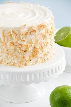 Piña Colada Cake: brown sugar cake, pineapple lime filling and coconut buttercream frosting