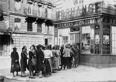 Queue of women outside a dairy shop, German-occupied Paris, 28 June Shortages and rationing were a feature of everyday life for Parisians during the occupation and would last until Get premium, high resolution news photos at Getty Images Historical Pictures, Historical Fiction, Louis Aragon, Old Paris, Like A Cat, Tropical Art, Women In History, Vintage Pictures, World War Two