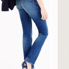 """J.Crew MatchStick Jeans First pic of model wearing this style of Jeans. Last 3 pics of actual item/actual color. Jeans are made of 98% Cotton and 2% Elastane. Dark Wash. 5 Pocket design. Straight leg. Size 26 Regular Waist. Inseam """"31. Rise """"7.5. Length """"39.5. Laying flat """"13. This item is NOT new, It is used and in Good condition. Authentic and from a Smoke And Pet free home. Ask any questions BEFORE purchase. Please use the Offer button, I WILL NOT negotiate in the comment section. Thank…"""