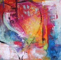 Abstract Heart Painting by colorsplashes Abstract Expressionism Art, Abstract Art, Abstract Paintings, Modern Art, Contemporary Art, Angel Drawing, Color Collage, Heart Painting, Found Art