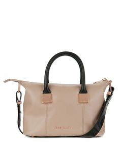 e202804d5 Small leather tote bag - Mink
