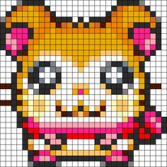 Pashmina Ham Ham Perler Bead Pattern / Bead Sprite