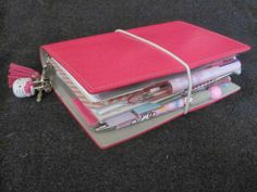 Deep Pink Domino Filofax by doris_98, via Flickr