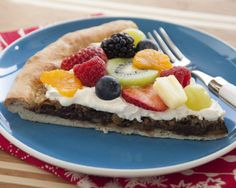 Chocolate Fruit Pizza -- This variation of fruit pizza has chocolate chips as an additional taste delight.   Fun Family Foods