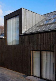 Opsætning/patterns af SUPERWOOD træprofiler på facader