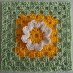 New Ideas For Crochet Granny Square Pattern Flower Libraries Diy Crochet Granny Square, Flower Granny Square, Crochet Blocks, Crochet Squares, Granny Squares, Diy Crochet And Knitting, Love Crochet, Crochet Motif, Crochet Crafts