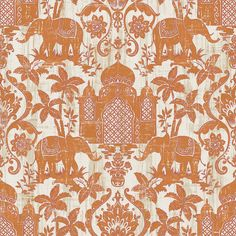 Add a bit of colour with the Indo Chic elephants in orange!