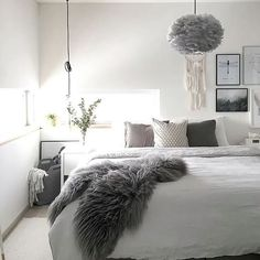 The beautiful bedroom of @the.aesthetic.eye Shop the Vita Eos lamp shade via the link in our bio ✨ . #bedroom #bedroomdecor #nordichome #nordicinspiration