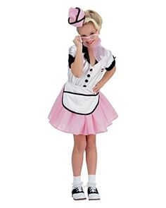 Kids 1950s Soda Pop Girl Costume LARGE *** You can find out more details at the link of the image.