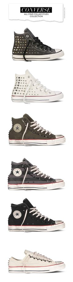 0307f30ac6d4 ... black white sneakers. von polyvore · Converse – All Star Collar Studs  Collection