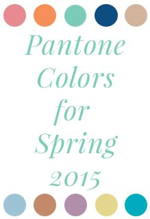 The Pantone colors for spring 2015 have been announced! Check out the wedding color palettes inspired by this season's selections.