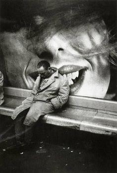 Homeless in the Metro; Paris, 1963 by Mario Dondero.