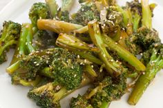 A simple side dish recipe made with broccoli, soy sauce, garlic, red pepper flakes, and sesame.
