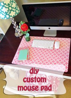 DIY Home Office Decor Ideas - DIY Custom Mouse Pad - Do It Yourself Desks, Tables, Wall Art, Chairs, Rugs, Seating and Desk Accessories for Your Home Office http://diyjoy.com/diy-home-office-decor