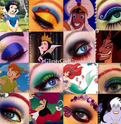 A beauty collage from December 2017 featuring disney makeup. Browse and shop related looks. Nerd Makeup, Eye Makeup Art, Colorful Eye Makeup, Cute Makeup, Disney Eye Makeup, Disney Inspired Makeup, Make Up Art, Eye Make Up, Cosplay Makeup