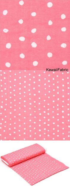 Double-Gauze Nani Iro in Rosa mit glänzenden, weißen Punkten von Kokka Michael Miller, Fabric Shop, Pink Fabric, Cotton Fabric, Kawaii, Modes4u, Textiles, Double Gauze Fabric, Fantasy