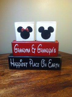 Mickey and Minnie grandparents house happiest place on earth grandma grandpa Disney happiest place on earth gift from grand kids
