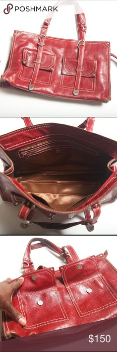 Franceso Biaisia Satchel Handbag Franceso Biaisia Satchel Handbag. Authentic leather. Gently used condition. Silver hardware and ample space and storage within the handbag and in the front pockets. Made In Italy. Some wear and tear on the front edges of the handbag. No Trades. No Paypal. Reasonable offers welcomed. Please ask all questions before making a purchase or reasonable offer. Francesco Biasia Bags Satchels